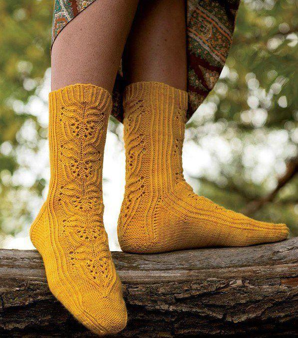 Ажурный узор на носочках