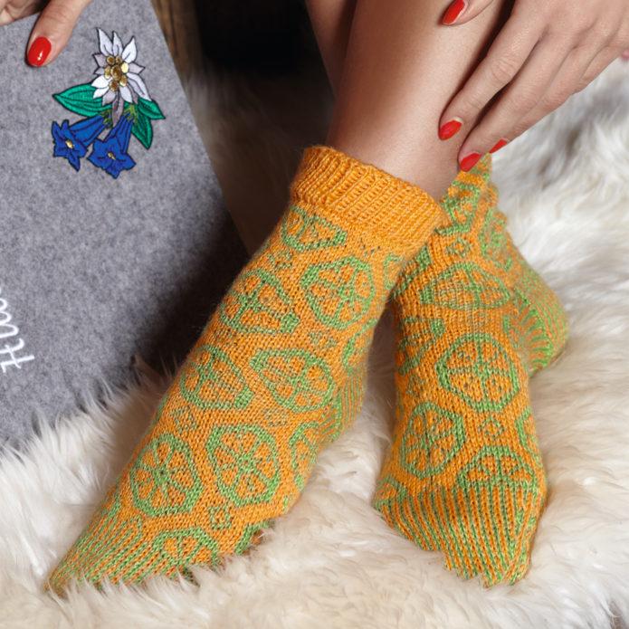 Жаккардовые носочки