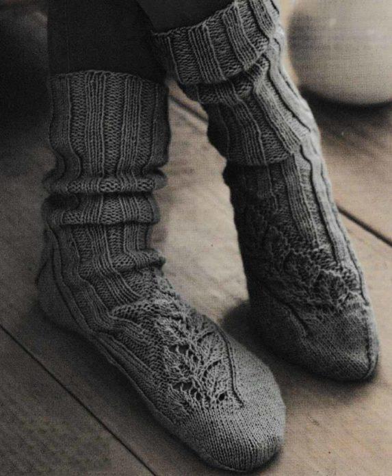 Носки с ажурной полосой