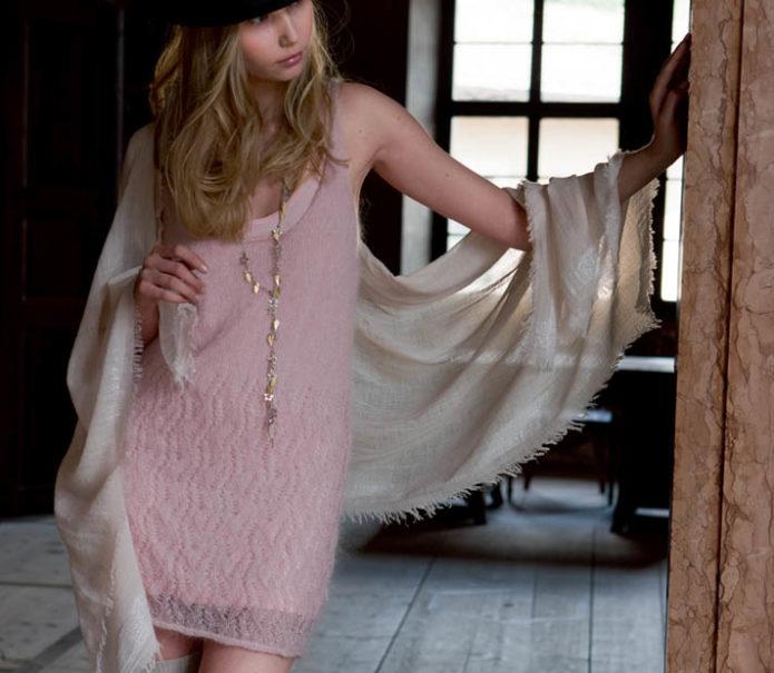 Платье из мохера