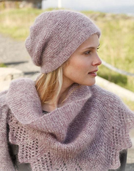 Комплект: шапка и шарф из мохера