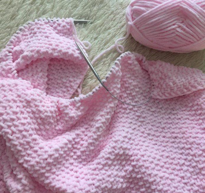 Вязание плюшевого пледа