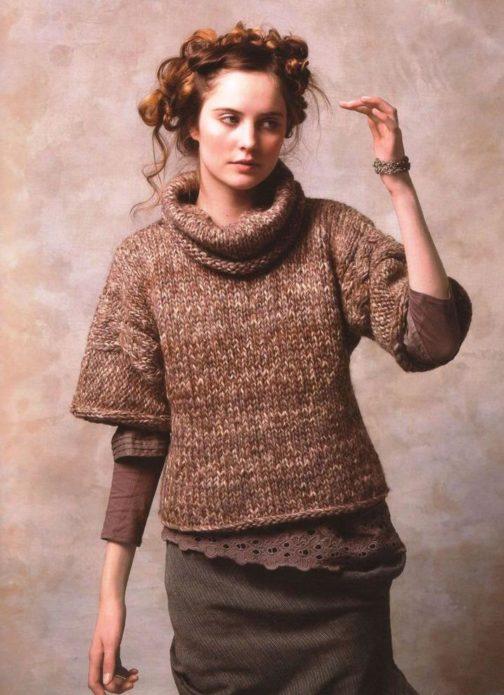 Вязание спицами меланжевая пряжа модели