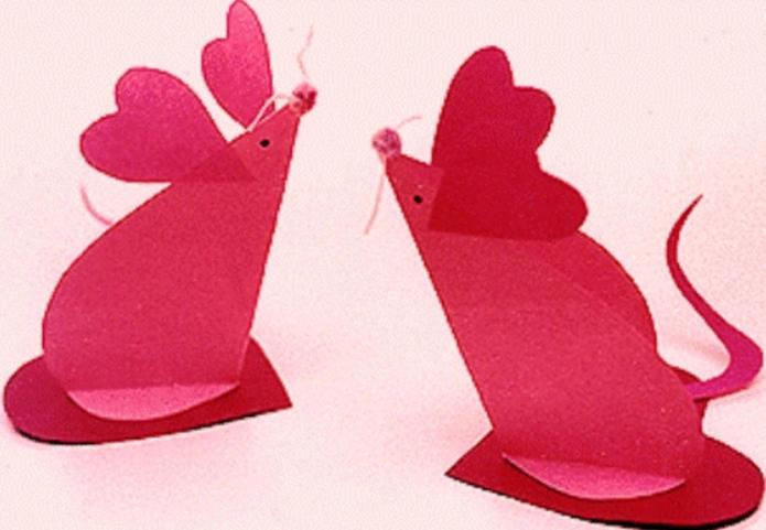 Валентинки-мышки