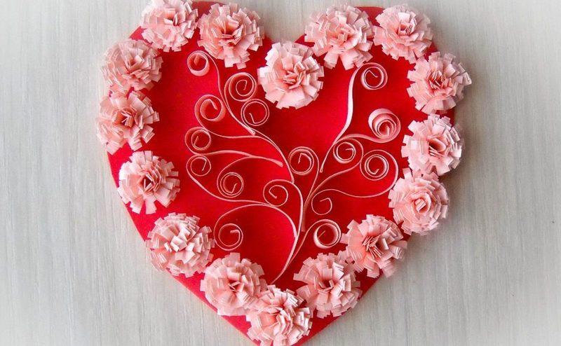 15 идей симпатичных валентинок на 14 февраля своими руками