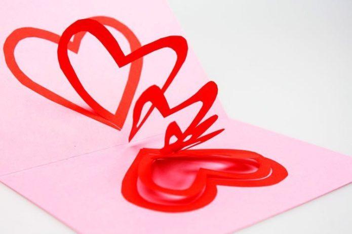 Открытки ко Дню Святого Валентина своими руками
