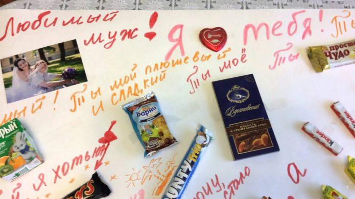 Плакат с шоколадками и конфетами