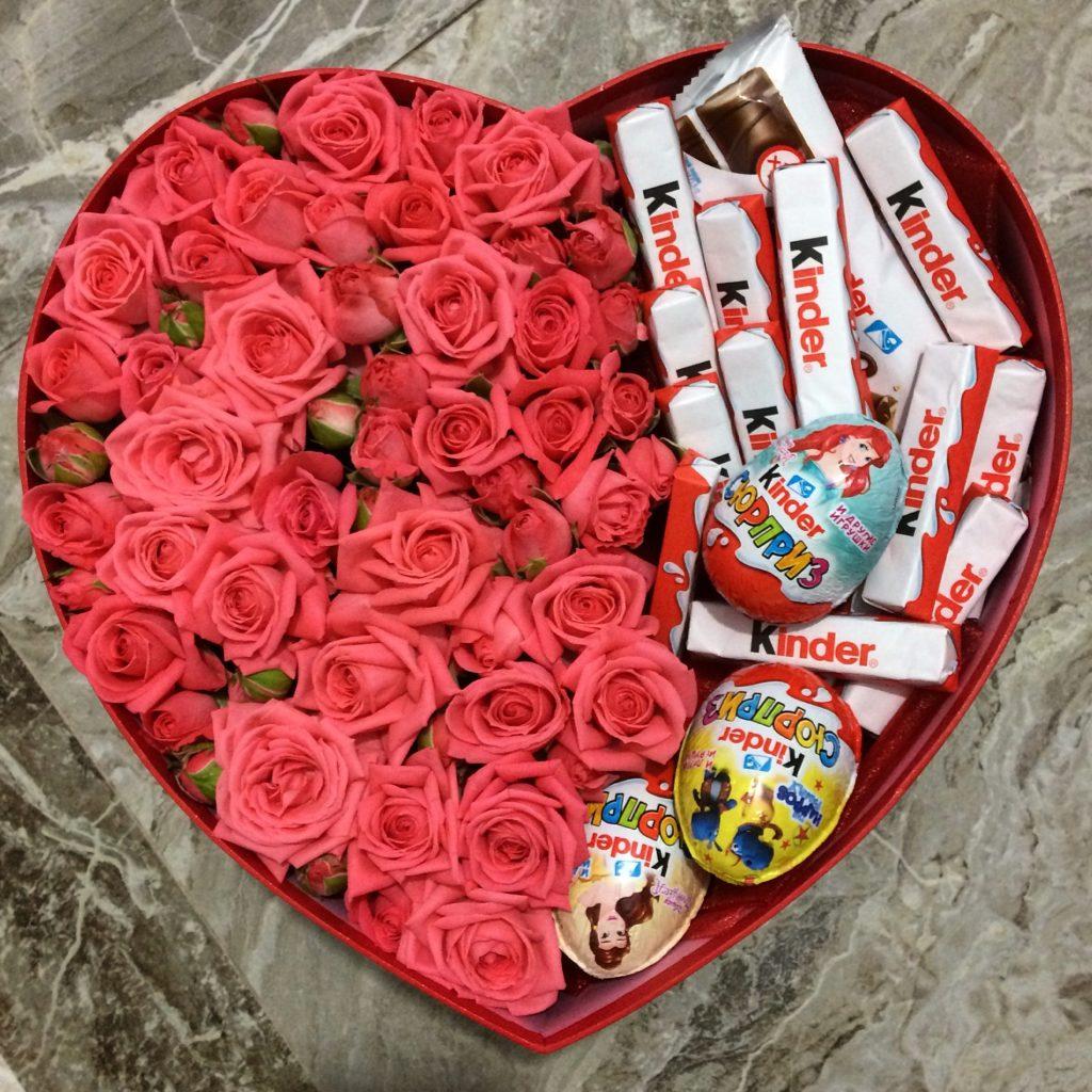 Цветов, подарки из цветов на 14 февраля девушке