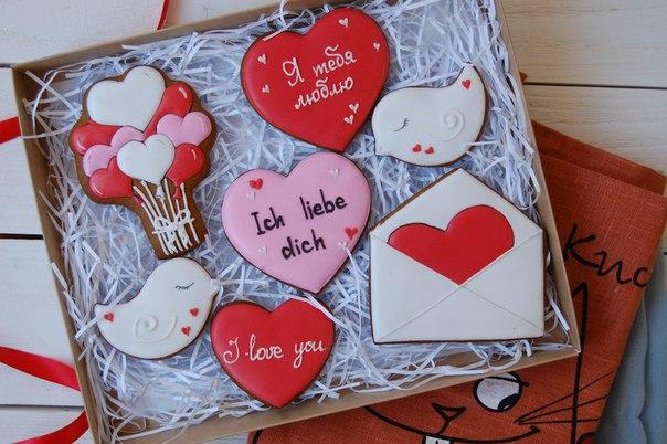 Имбирное печенье на 14 февраля