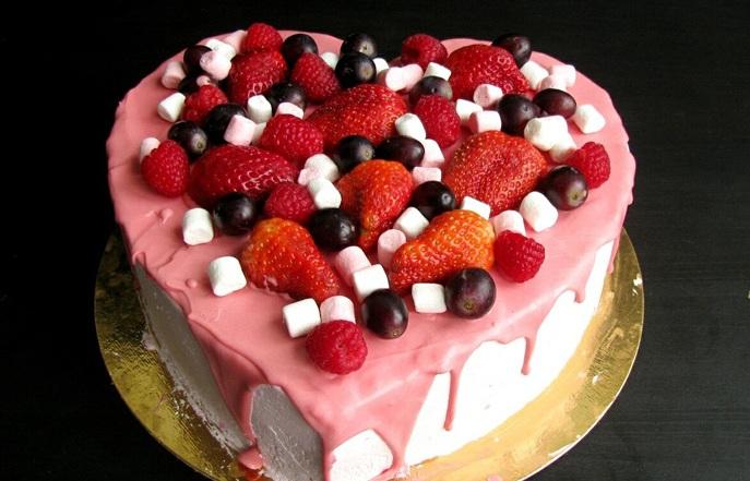Торт на 14 февраля