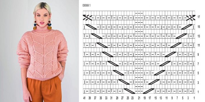 Модный свитер с патентным узором