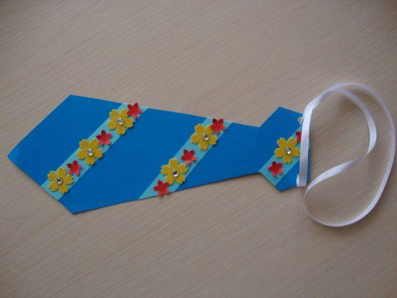 Открытка-галстук к 23 Февраля