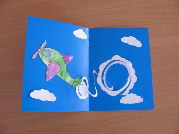 Аппликация-открытка «Самолёт»