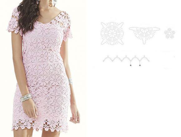 Нежное платье из мотивов