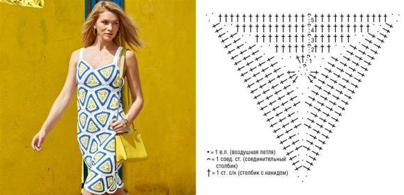 Платье из треугольных мотивов