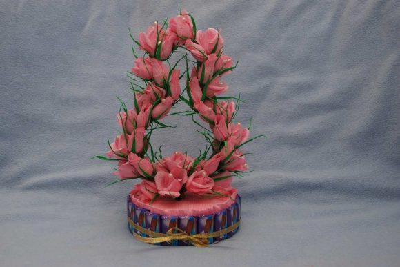 Торт из конфет к 8 Марта