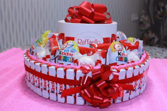 Торт из популярных конфет