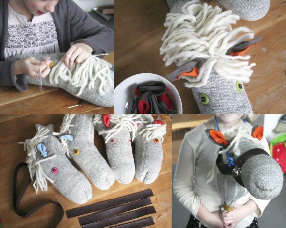 Создание лошади из носка