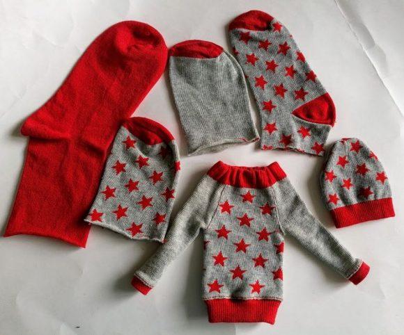 Кукольная одежда из носков