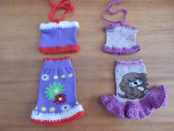Кукольная одежда, сделанная из носков
