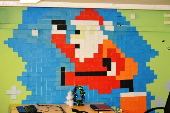 Дед Мороз из стикеров
