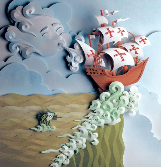 Объёмная картина с кораблем