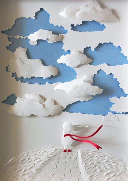 Объёмная картина из бумаги