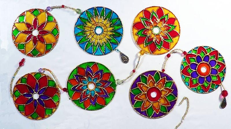 Радужные поделки своими руками: вторая жизнь старых дисков