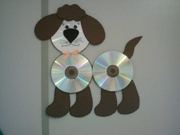 Собачка из дисков