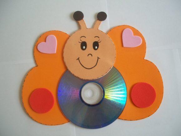 Бабочка из дисков