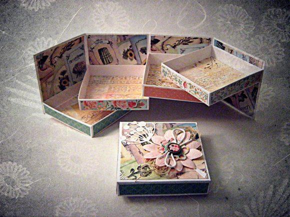 Шкатулки из картона