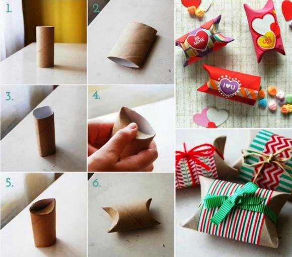 Подарочные упаковки из втулок