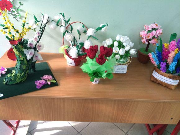 Различные поделки в виде цветов