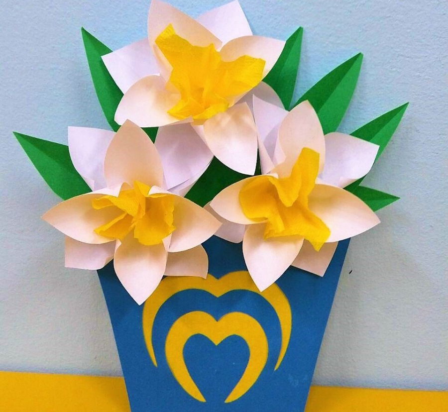 Осеннего дня, открытка цветочек для мамы