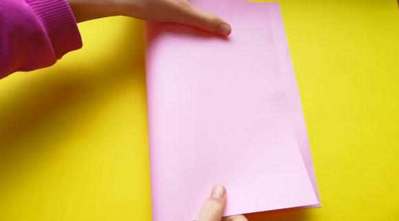 Сгибание листа бумаги