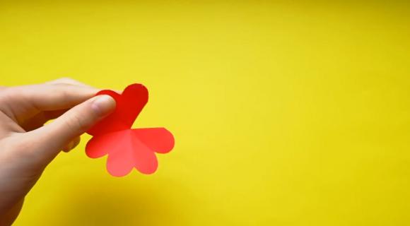 Заготовка для цветка из бумаги