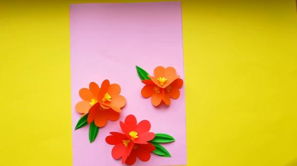 Заготовка для открытки с цветами
