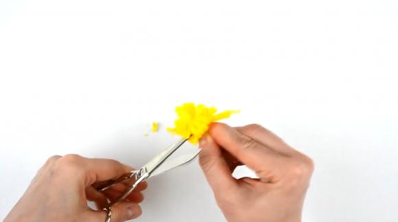 Разрезание сгибов мотка