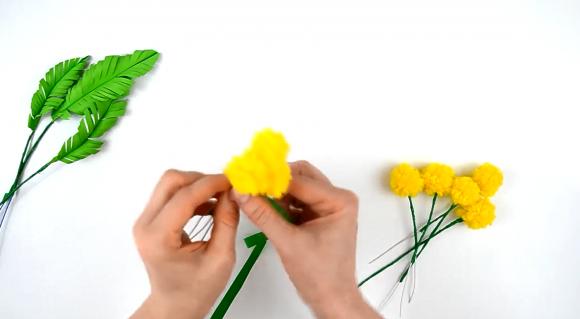 Соединение цветков между собой