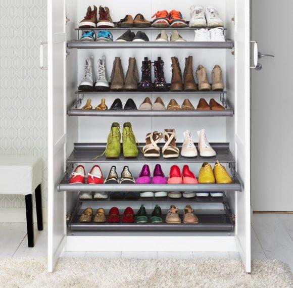 Хранение обуви в шкафу