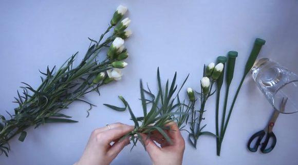 Живые цветы для букета