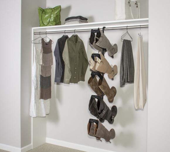 Специальные вешалки для вертикального хранения обуви