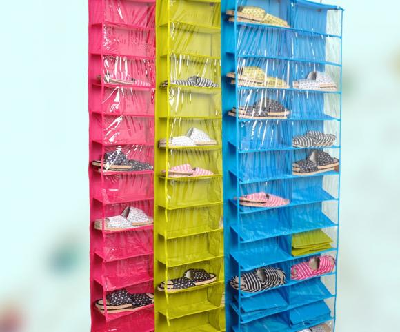 Подвесные карманы с ячейками для обуви