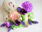 Букет цветов из гофрированной бумаги
