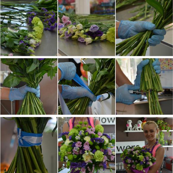 Сборка букета из цветов