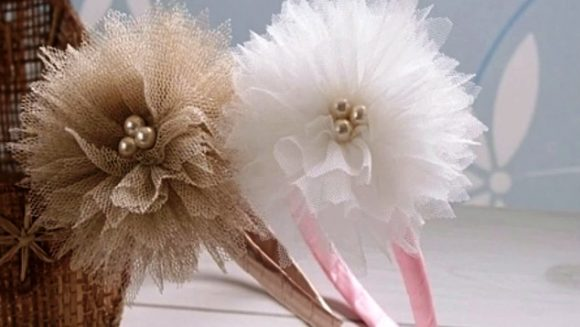 Цветы из фатина