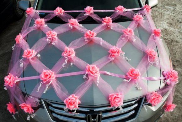 Фатин на свадебном автомобиле