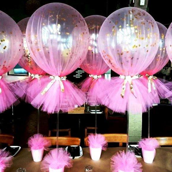 Воздушные шары в фатине