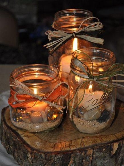 Три банки со свечами