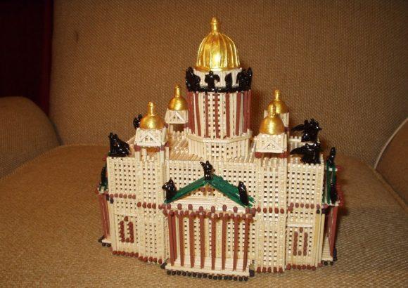 Храм из спичек